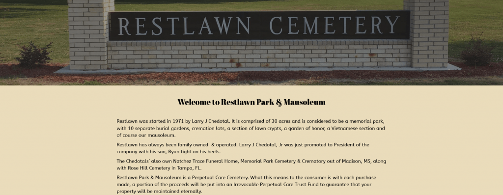 Restlawn Park Cemetery Mausoleum – Family Owned Operated